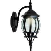 Светильник садово-парковый Feron 8102 восьмигранный на стену вниз 100W E27 230V, черный
