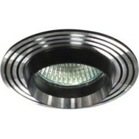 Светильник встраиваемый Feron CD2310 потолочный MR16 G5.3 серебристый-черный