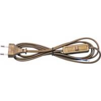 Сетевой шнур с выключателем, 230V 1.9м золото, KF-HK-1