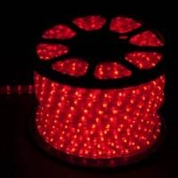 Дюралайт светодиодный Feron LED-F3W 3-х жильный , красный 2,88Вт/м 72LED/м 50м 220V