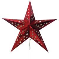 Световая фигура из бумаги, 5LED (RGB), 2*СR2032,  45*45,6 см, IP20, LT101 красный