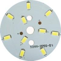 LB-1762, светодиодный модуль на алюм.плате, 5W 10LED SMD5730 275Lm 6400K D50mm