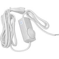 Сетевой шнур с диммером 230V 1,5+0,5м, белый, DM103-200W