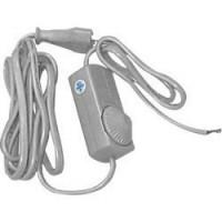 Сетевой шнур с диммером 230V 1,5+0,5м,  прозрачный, DM103-200W