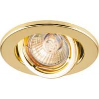 Светильник встраиваемый Feron DL8 потолочный MR11 G4.0 золотистый