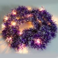 Светодиодная гирлянда Feron CL800 мишура фиолетовый с питанием от батареек