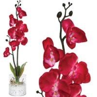 Декоративный цветок с LED подсветкой Feron PL307 Орхидея в вазе, малиновый