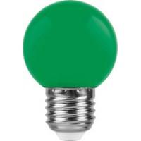 Лампа светодиодная Feron LB-37 Шарик E27 1W Зеленый