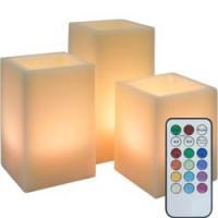 Набор декоративных свечей Feron FL074 c RGB LED подсветкой, 3 шт, с пультом управления