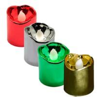 Набор декоративных свечей Feron FL078 c теплой белой LED подсветкой, 12 шт