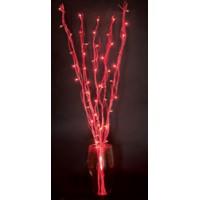 Ветка декоративная светодиодная Feron LD206B-indoor с красной подсветкой от сети, высота 120 см m(28102)