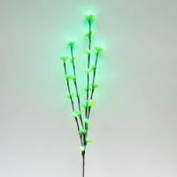 Ветка декоративная светодиодная Feron LD207B c зеленой подсветкой от сети, высота 80 см