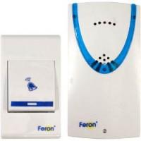 Звонок дверной беспроводной Feron Е-222  Электрический 32 мелодии белый синий с питанием от батареек