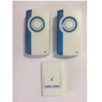 Звонок дверной беспроводной Feron E-370 Электрический 32 мелодии белый синий с питанием от батареек