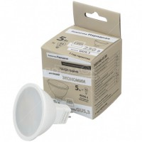 Лампа светодиодная MR16-5 Вт-230 В-4000 К–GU5,3 Народная