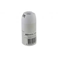 Патрон Е14 подвесной, термостойкий пластик, белый, Б/Н TDM