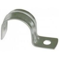Скоба металлическая 2-х лапковая с внутр. d 14-15 мм