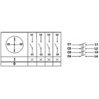 Пакетный выключатель ПВ4-16 исп.3 4П 16A 220В IP00 TDM
