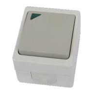 """Выключатель 1-кл. с подсветкой открытой установки IP54 10А """"Вуокса"""" TDM"""