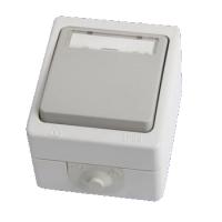 """Кнопка звонковая с полем для надписи IP54 6A """"Вуокса"""" TDM"""