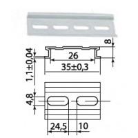 DIN-рейка алюминиевая усиленная 1м TDM