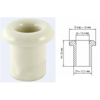 Керамический проходной изолятор для провода белый d 12,5мм (25шт)