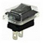 Клавишный переключатель YL-211-03 черный (влагозащищенный) 2 положения 1з  TDM