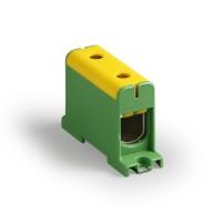 Клемма вводная силовая КВС 35-150 кв.мм. желтая/зеленая TDM