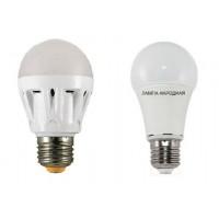 Лампа светодиодная НЛ-LED-A60-5 Вт-230 В-6500 К-Е27, (58х109 мм), Народная