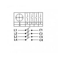 Пакетный переключатель ПП 4-40/Н2 исп.1 4П 40А 220В IP00 TDM