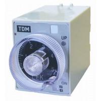 Реле времени 4-диапазоннное цокольное РВ2D-10сек/60мин-5A-220В-8Ц TDM