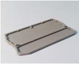 Заглушка для ЗКБ 4 мм2 серая TDM
