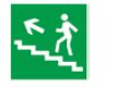 """Знак """"Направление к эвакуационному выходу (по лестнице налево вверх)"""" 150х150мм TDM"""